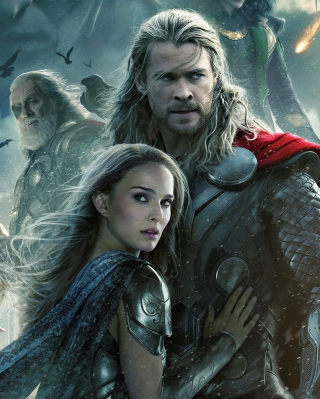 Kostenloses Thor 2 The Dark World 2013 Wallpaper für Nokia Asha 308