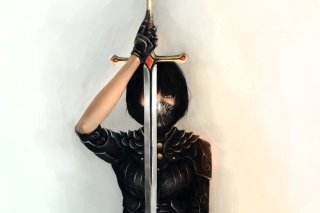 Girl With Sword Background for Android, iPhone and iPad