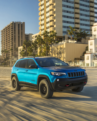 Kostenloses 2019 Jeep Cherokee Trailhawk Suv Wallpaper für iPhone 6 Plus