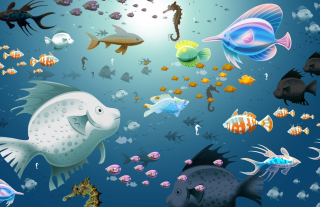 Virtual Fish Tank Aquarium Background for Android, iPhone and iPad
