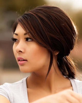 Nice Asian Girl Wallpaper for 640x1136