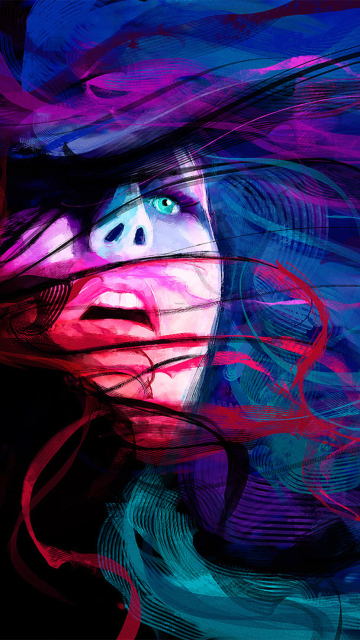 Girl Face Creative Abstraction