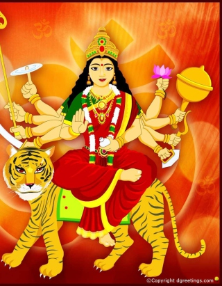Maa Durga - Puja Avratri Picture for 240x320