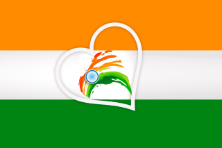 Happy Independence Day of India Flag - Obrázkek zdarma pro Google Nexus 7