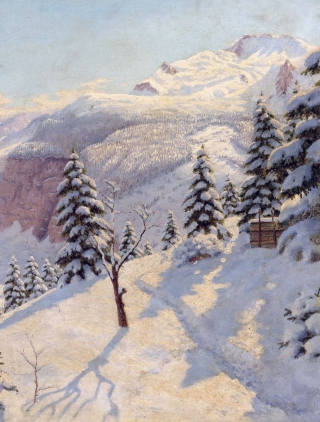 Beautiful Winter In Boris Bessonov Painting - Obrázkek zdarma pro Nokia Asha 305