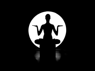 Moonlight Yoga Background for Android, iPhone and iPad