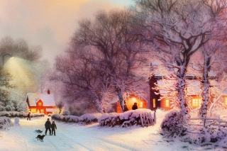Christmas Walk Picture for Android, iPhone and iPad