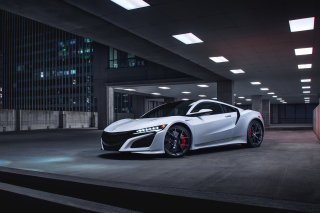 Acura NSX in Garage Background for Android, iPhone and iPad