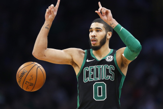Jayson Tatum in Boston Celtics Background for Samsung Galaxy S6 Active