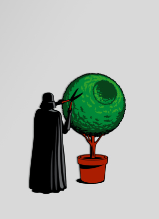 Free Darth Vader Funny Illustration Picture for 240x320