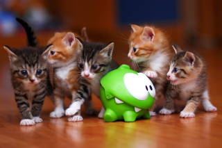 Interactive Kittens Toy Background for Android, iPhone and iPad