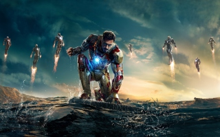 Robert Downey Jr. As Iron Man Wallpaper for Android, iPhone and iPad