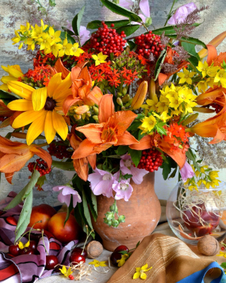 Autumn Bouquet Background for Nokia C1-01