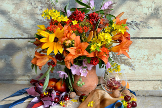 Autumn Bouquet Background for Android, iPhone and iPad