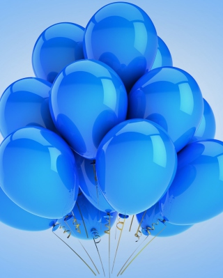 Blue Balloons Wallpaper for 240x320