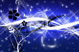 Blue Art Lines for Template papel de parede para celular para Widescreen Desktop PC 1600x900