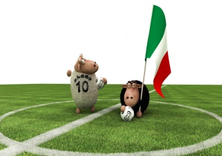 Sheep Playing Football sfondi gratuiti per 480x400