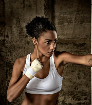 Sporty Girl Boxing Background for Nokia C-5 5MP