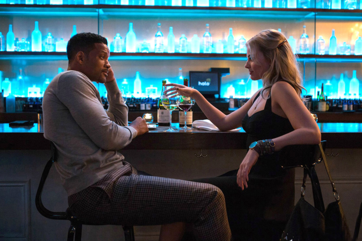 Will Smith and Margot Robbie in Focus Movie wallpaper