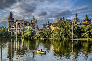 Vajdahunyad Castle in Budapest Background for Android, iPhone and iPad