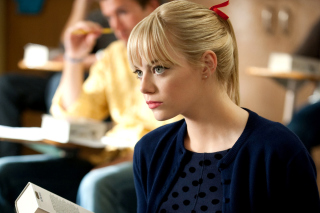 Emma Stone in Spider Man Wallpaper for Android, iPhone and iPad