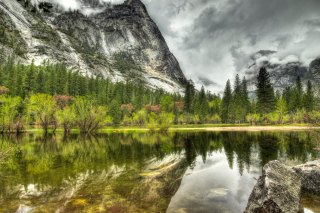 HDR Incredible Mountains sfondi gratuiti per cellulari Android, iPhone, iPad e desktop