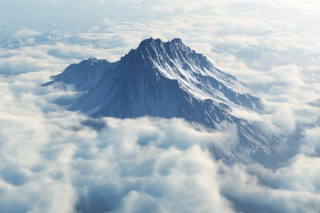 Mountain In Clouds Picture for Android, iPhone and iPad