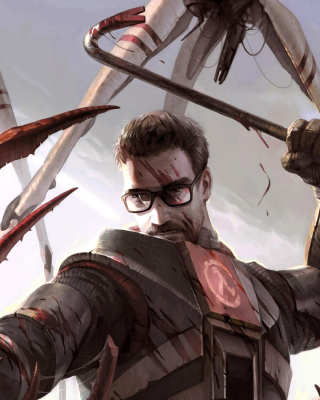 Gordon Freeman in Half Life Game sfondi gratuiti per Nokia Asha 308