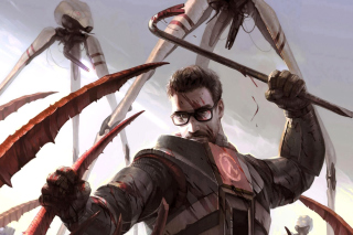 Kostenloses Gordon Freeman in Half Life Game Wallpaper für 1400x1050
