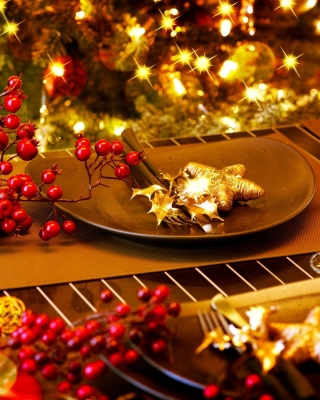 Christmas Table Decorations sfondi gratuiti per iPhone 6