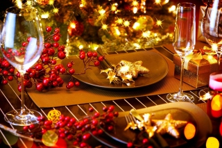 Kostenloses Christmas Table Decorations Wallpaper für Android, iPhone und iPad