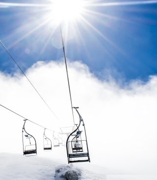 Ski Ropeway Background for Nokia C-5 5MP