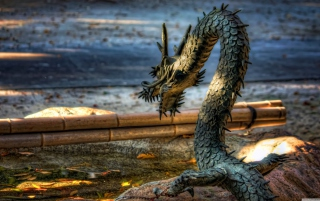 Chained Dragon Background for Android, iPhone and iPad