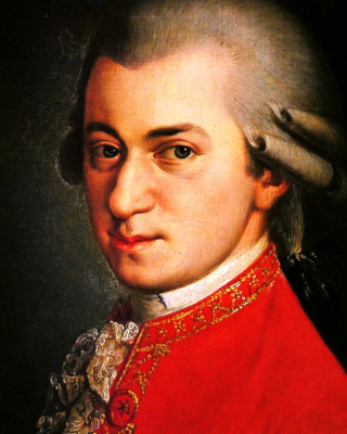 Wolfgang Amadeus Mozart Wallpaper for 240x320