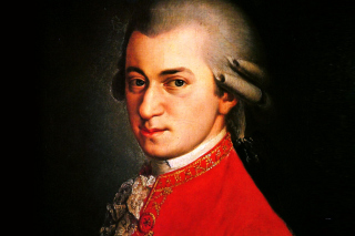 Wolfgang Amadeus Mozart Background for Android, iPhone and iPad