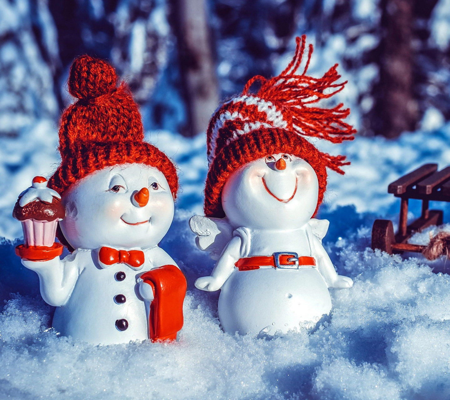 Das Snowman HD Wallpaper 1440x1280