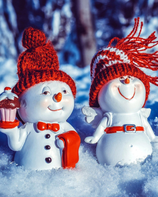 Snowman HD Background for 480x800