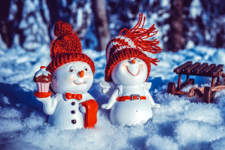 Snowman HD Background for Nokia XL
