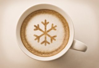 Snowflake Capuccino Wallpaper for Android, iPhone and iPad