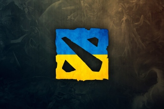 Dota 2 Ukrainian Flag Background for Samsung Galaxy Ace 4