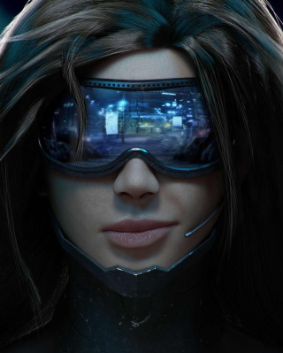 Cyberpunk Girl Wallpaper for iPhone SE