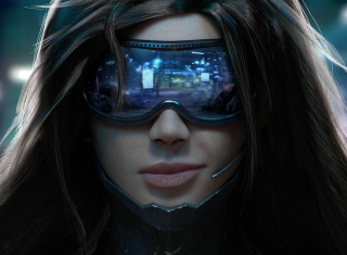 Cyberpunk Girl Background for HTC One