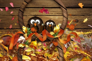 Birds Of Fall Background for Android, iPhone and iPad