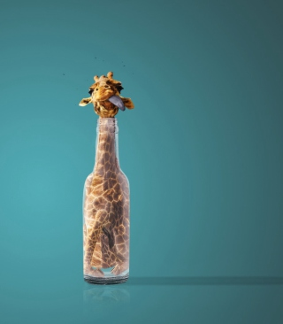 Free Giraffe In Bottle Picture for Nokia C1-01