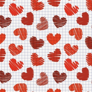 Drawn Hearts Texture - Fondos de pantalla gratis para iPad Air