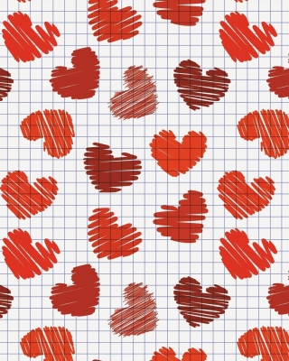 Drawn Hearts Texture Background for iPhone 6 Plus