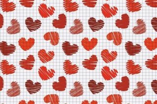 Drawn Hearts Texture Picture for Android, iPhone and iPad
