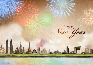 Happy New Year sfondi gratuiti per LG P700 Optimus L7