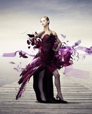 Creative Purple Dress Background for Nokia C1-01