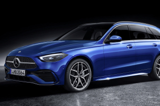 Mercedes Benz C Class Estate AMG Line 2021 Wallpaper for 480x400